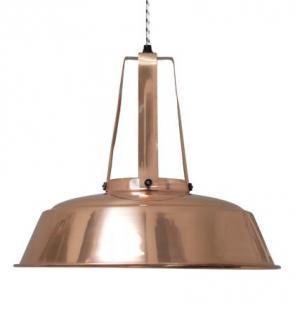 Pendelleuchte, Pendellampe, Industriedesign Hängelampe, Farbe Kupfer - Vorschau 1