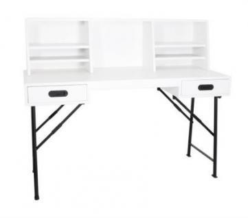 Industriedesign Schreibtisch aus Holz und Metallgestell, 140 cm Länge - Vorschau 2