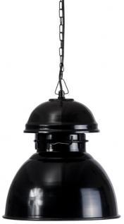 Hängeleuchte Fabrikart, Pendelleuchte Industriedesign, Farbe schwarz
