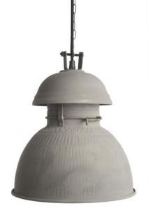 Hängeleuchte Fabrikart, Pendelleuchte Industriedesign, Farbe grau matt