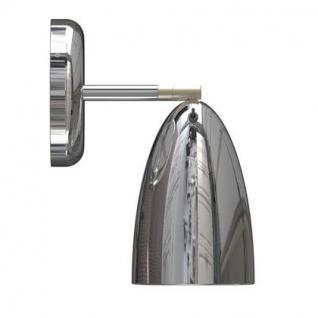 Wandleuchte Metall PVC chrom LED schwenkbar