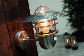Wandleuchte Metall verzinkt Glas Outdoor 15 Jahre Anti-Rost-Garantie Bewegungssensor - Vorschau 1
