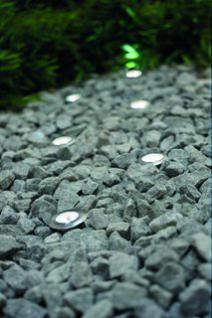 Einbauleuchte rostfreier Edelstahl PVC Glas LED 6er Set modern