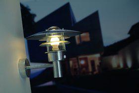 Wandleuchte Metall verzinkt Glas Outdoor 15 Jahre Anti-Rost-Garantie Bewegungssensor