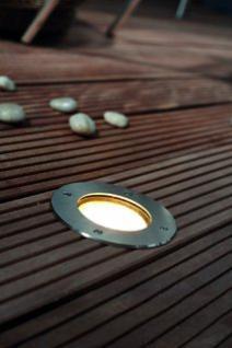 Einbauleuchte Metall Glas rostreies Edelstahl modern Energiesparer