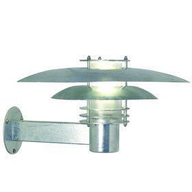Wandleuchte Metall verzinkt Glas Outdoor 15 Jahre Anti-Rost-Garantie Energiesparer - Vorschau 2