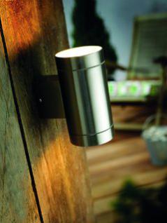 Wandleuchte rostfreier Edelstahl Aluminium Glas Outdoor Energiesparer