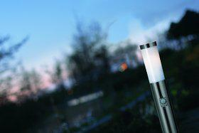 Stehleuchte rostfreier Edelstahl PVC Metall Outdoor Bewegungssensor