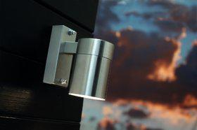 Wandleuchte rostfreier Edelstahl Metall Glas Outdoor