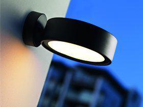 Wandleuchte Metall schwarz Outdoor Energiesparer - Vorschau 1
