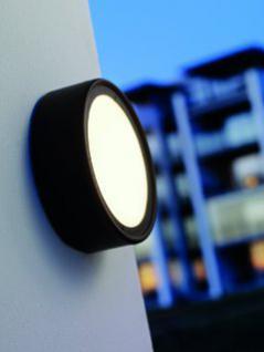 Wand-/ Deckenleuchte Metall schwarz Outdoor Energiesparer - Vorschau 1