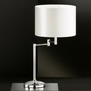Design Tischleuchte, chrom, Höhe 52 cm - Vorschau