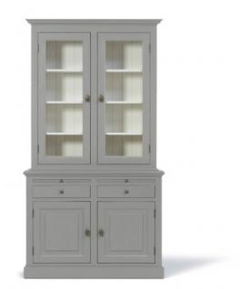 Vitrinenschrank / Geschirrschrank im Landhausstil in vier Farben - Vorschau 2