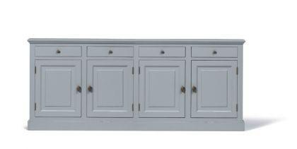 Klassische Anrichte, Sideboard im Landhausstil in vier Farben und drei Größen