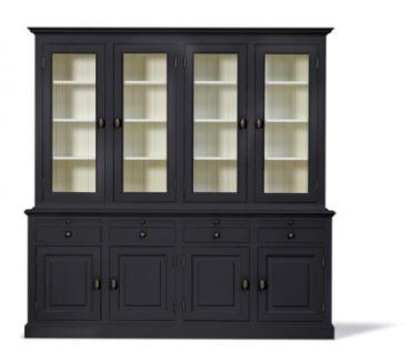 Vitrinenschrank, Geschirrschrank, Wohnzimmerschrank im Landhausstil in vier Farben und drei Größen - Vorschau 3