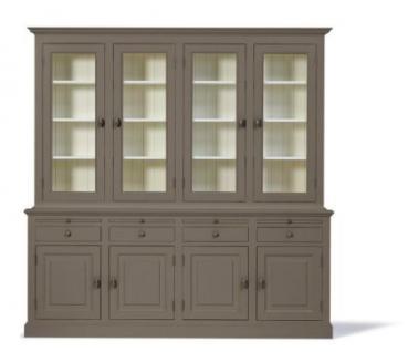 Vitrinenschrank, Geschirrschrank, Wohnzimmerschrank im Landhausstil in vier Farben und drei Größen - Vorschau 1