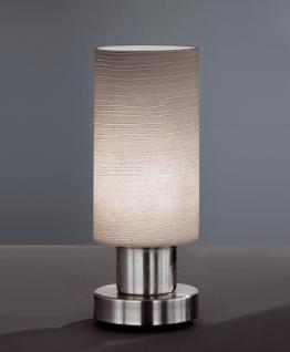 Design Tischleuchte, mattnickel, Höhe 20 cm - Vorschau