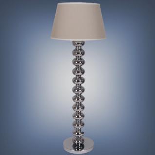 Moderne Stehleuchte mit einem Lampenschirm, Farbe leinen-creme, 154 cm Höhe - Vorschau 1