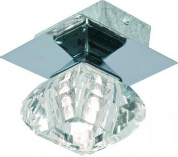 Design Deckenleuchte Chrom Diamant optik - Vorschau