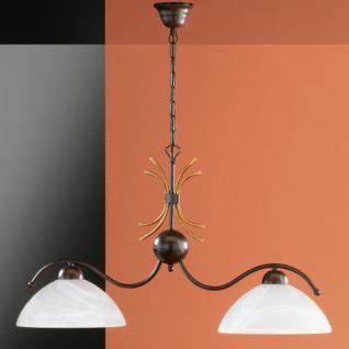 Design Pendelleuchte, rostfarbig antik/goldfarbig, Ø 25 cm - Vorschau