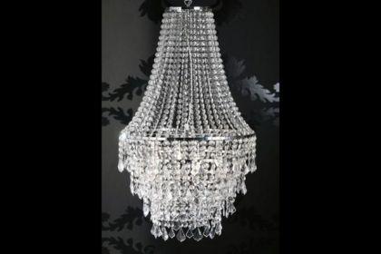 Kronleuchter aus Acrylglas, 4-flammig, Durchmesser 60 cm