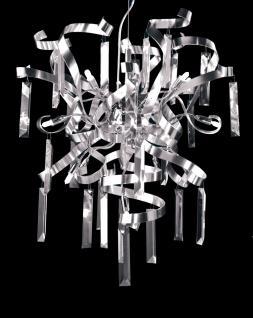 Pendelleuchte Metall chrom/ aluminium Kristall transparent modern dimmbar