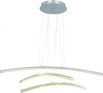 Pendelleuchte Metall nickel Acrylglas transparent modern LED - Vorschau