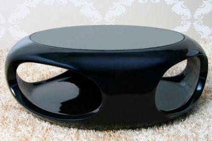 Designer Couchtisch, schwarz