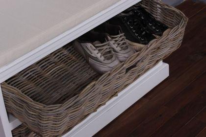 Garderobe, Garderobenschrank weiss im Landhausstil, massiv Holz - Vorschau 5