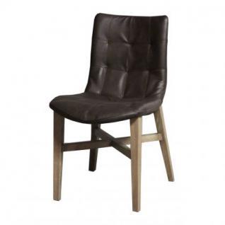 Stuhl mit Kunstleder bezogen in fünf Farben - Vorschau