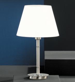 Design Tischleuchte, mattnickel/chrom, Höhe 54 cm - Vorschau