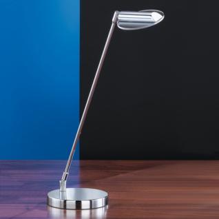 Design Tischleuchte, chrom, Glas klar Ø 10,5 cm - Vorschau