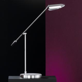 Design Tischleuchte, mattnickel/chrom, verstellbar, Glas klar Ø 10, 5 cm - Vorschau