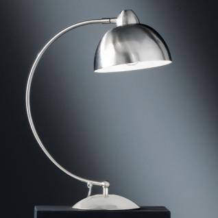 Design Tischleuchte, mattnickel, Ø 18 cm - Vorschau