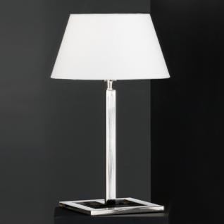 Design Tischleuchte, chrom, Höhe 50 cm - Vorschau
