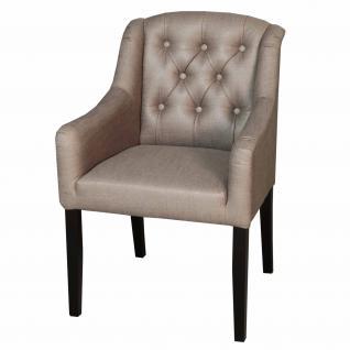 Stuhlsessel im Landhausstil, gepolstert in Farben: sand, taupe, anthrazit und braun - Vorschau 4
