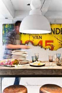 Pendelleuchte Fabrikart, Industriedesign Lampe, Farbe weiss - Vorschau 3