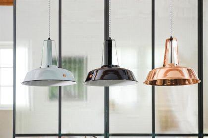 Pendelleuchte, Pendellampe, Industriedesign Hängelampe, Farbe weiss - Vorschau 2