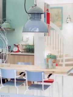 Hängeleuchte Fabrikart XXL, Pendelleuchte Industriedesign, Farbe grau