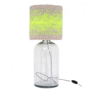 """Tischleuchte Flasche"""", Tischlampe aus Glas, Ø 22 und 31 cm"""""""