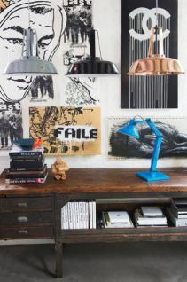 Design Tischleuchte, Tischlampe, Farbe blau mit verstellbaren Arm - Vorschau 2