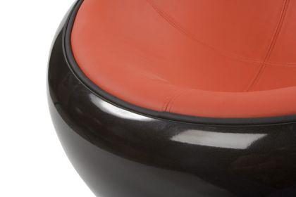 Design Sessel in schwarz/rot - Vorschau 5