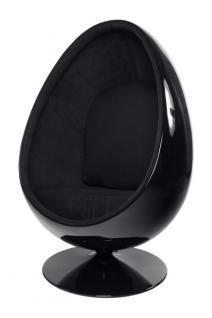 Design Sessel in schwarz