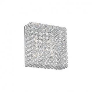 Wand- / Deckenleuchte Metall chrom oder gold, Kristall transparent, modern
