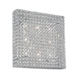 Decken- / Wandleuchte Metall chrom oder gold, Kristall transparent, modern