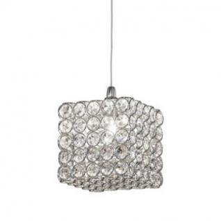 Pendelleuchte Metall chrom oder gold, Kristall transparent, modern