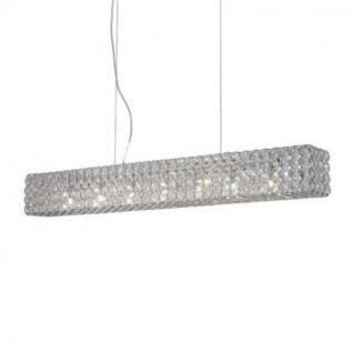 Pendelleuchte Metall chrom oder gold, Kristall transparent, modern - Vorschau