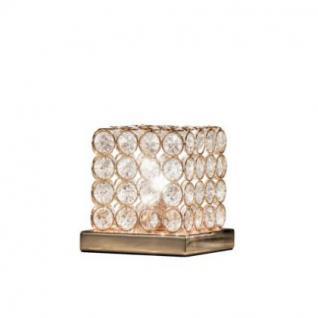Tischleuchte Metall gold, Kristall transparent, modern