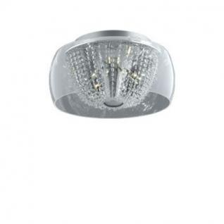 Deckenleuchte Metall chrom, Glas, Kristall transparent, modern