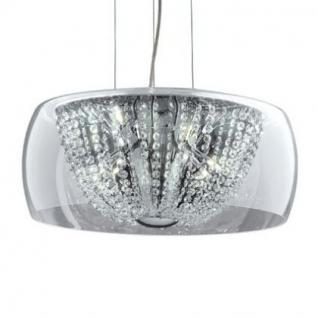 Pendelleuchte Metall chrom, Glas, Kristall transparent, modern